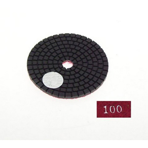 "Diamond flexible polishing pad -3"" #100 wet"