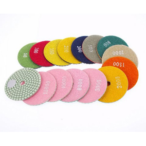 "Diamond flexible polishing pad - 3"" 10 pcs set"