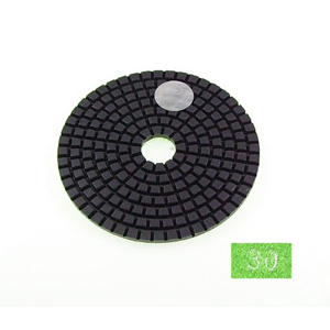 "Diamond flexible polishing pad -4"" #30 wet"