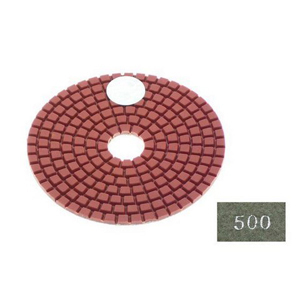 "Diamond flexible polishing pad -4"" #500 wet"