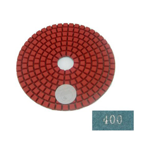 "Diamond flexible polishing pad -4"" #400 wet"
