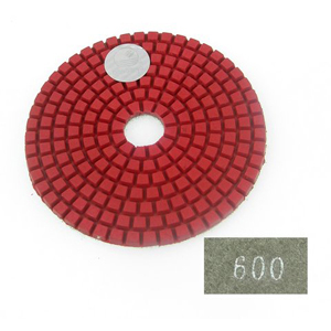 "Diamond flexible polishing pad -4"" #600 wet"