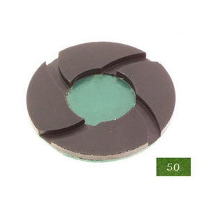 "Diamond polishing pad 6mm thickness -4"" #50 wet"