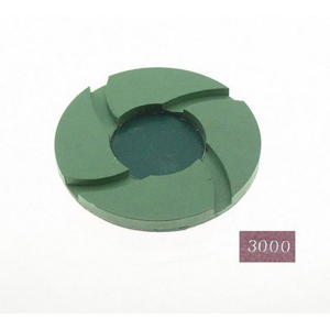 "Diamond polishing pad 6mm thickness -4"" #3000 wet"