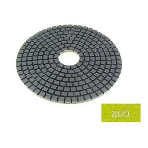 "Diamond flexible polishing pad -5"" #200 wet"
