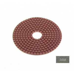 "Diamond flexible polishing pad -5"" #500 wet"