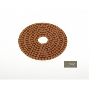 "Diamond flexible polishing pad -5"" 1000# wet"