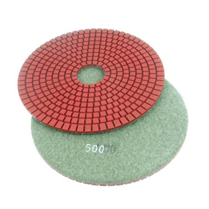 "Diamond flexible polishing pad -7"" #500 wet"