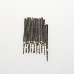 Diamond coated drill bits 10 pcs - 1.3x8mm