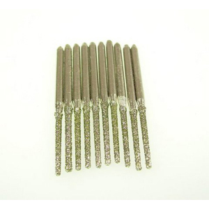 Diamond coated drill bits 10 pcs - 2.5x10mm