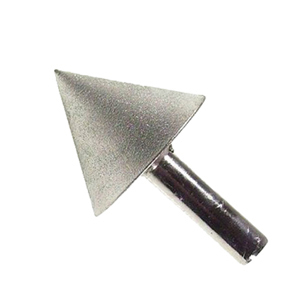 Diamond coated point cone - 70mm #180