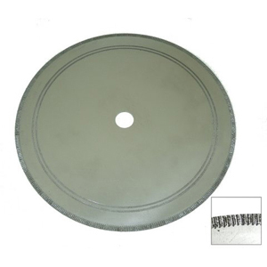 "Diamond rim coated cutting blade - 12"" x 1.5mm"