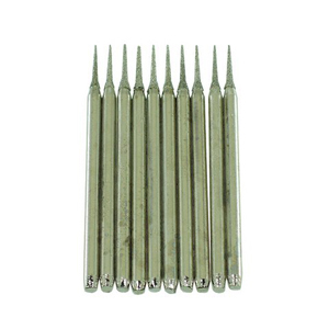 Diamond coated burr cone 10 pcs - 0.8mm