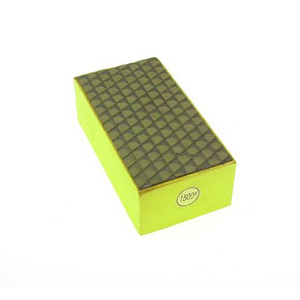 Diamond resin bond polishing hand pad grid pattern - #1500