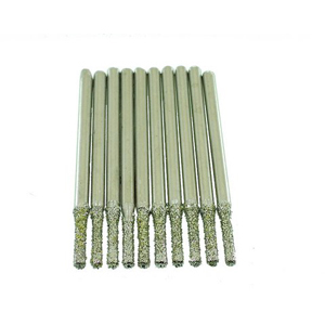 Diamond coated drill bits 10 pcs - 1.5mm