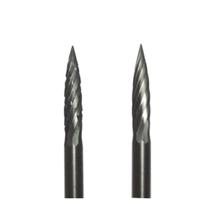 Carbide burr arc with pointed top - 3x10mm