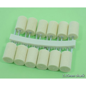 Felt polishing point cylinder 12 pcs - 12x2.35mm