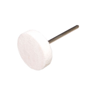 Felt polishing point flat hard - 22x6x2.35mm