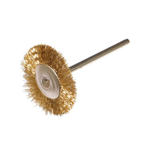 Brass wire wheel brush 22x2.35mm