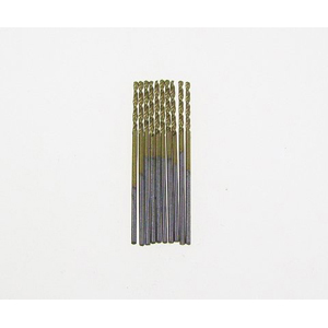 Titanium coated HSS twist drill bit 10 pcs - 1mm