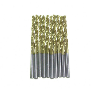 Titanium coated HSS twist drill bit 10 pcs - 4mm