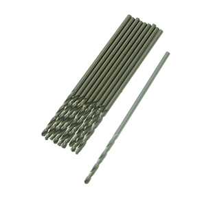 HSS M35 micro twist drill bit 10 pcs - 1mm