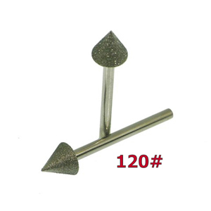 Diamond coated point cone - 10x10mm 120#