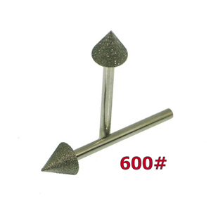 Diamond coated point cone - 10x10mm 600#