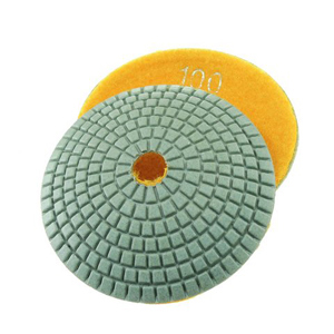 Diamond resin bonded concave polishing pad 4� 100# wet