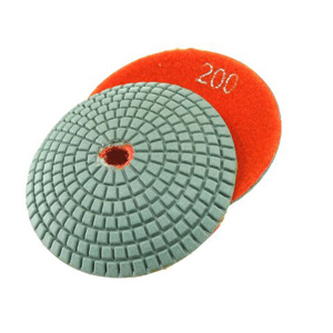 Diamond resin bonded concave polishing pad 4� 200# wet