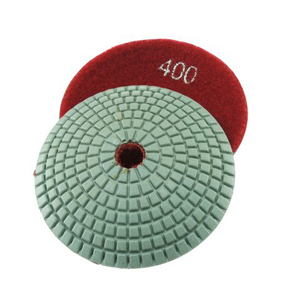 Diamond resin bonded concave polishing pad 4� 400# wet