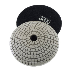Diamond resin bonded concave polishing pad 4� 3000# wet